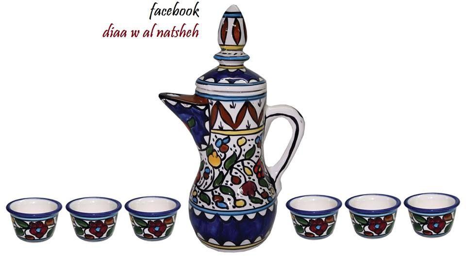 دلة قهوة من منتجاتنا الخزفية المصنوعة في فلسطين Of Ceramic Products Made In The State Of Palestine Beer Steins Ceramics Glassware