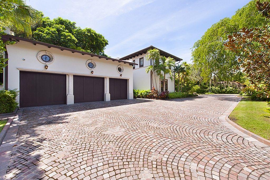 Great Mediterranean Garage with exterior tile floors