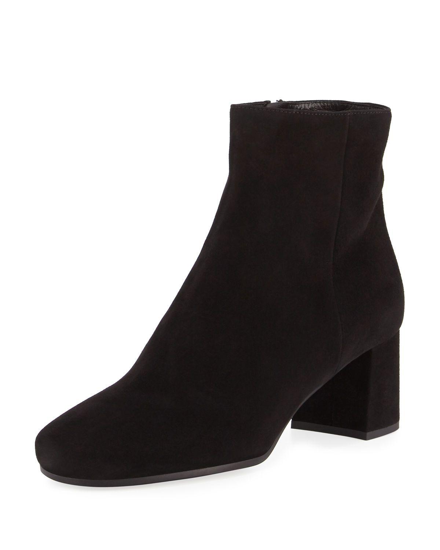 4d2a16aeb2 Suede 55mm Block-Heel Boot | Style | Pinterest | Boots, Block heel ...
