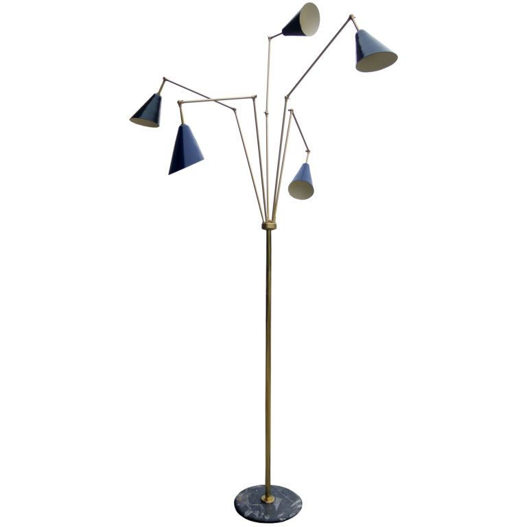 Floor Lamp Adjustable: 1000+ images about Home: Mid Century Lighting on Pinterest | Furniture,  Brass lamp and Floor lamps,Lighting