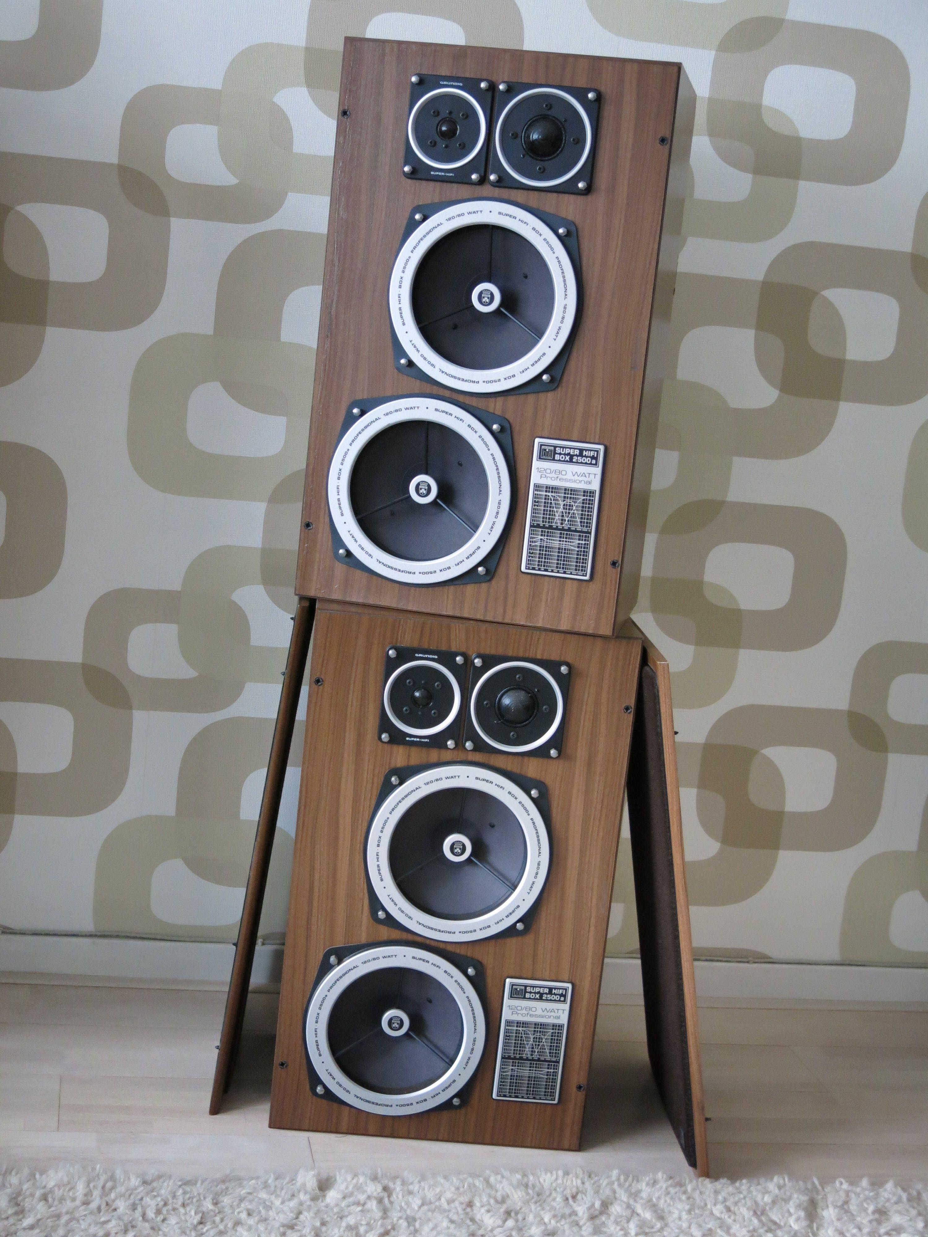 Vintage Grundig Super Hifi Box 2500a Loudspeakers Vintage Speakers Hifi Vintage Electronics