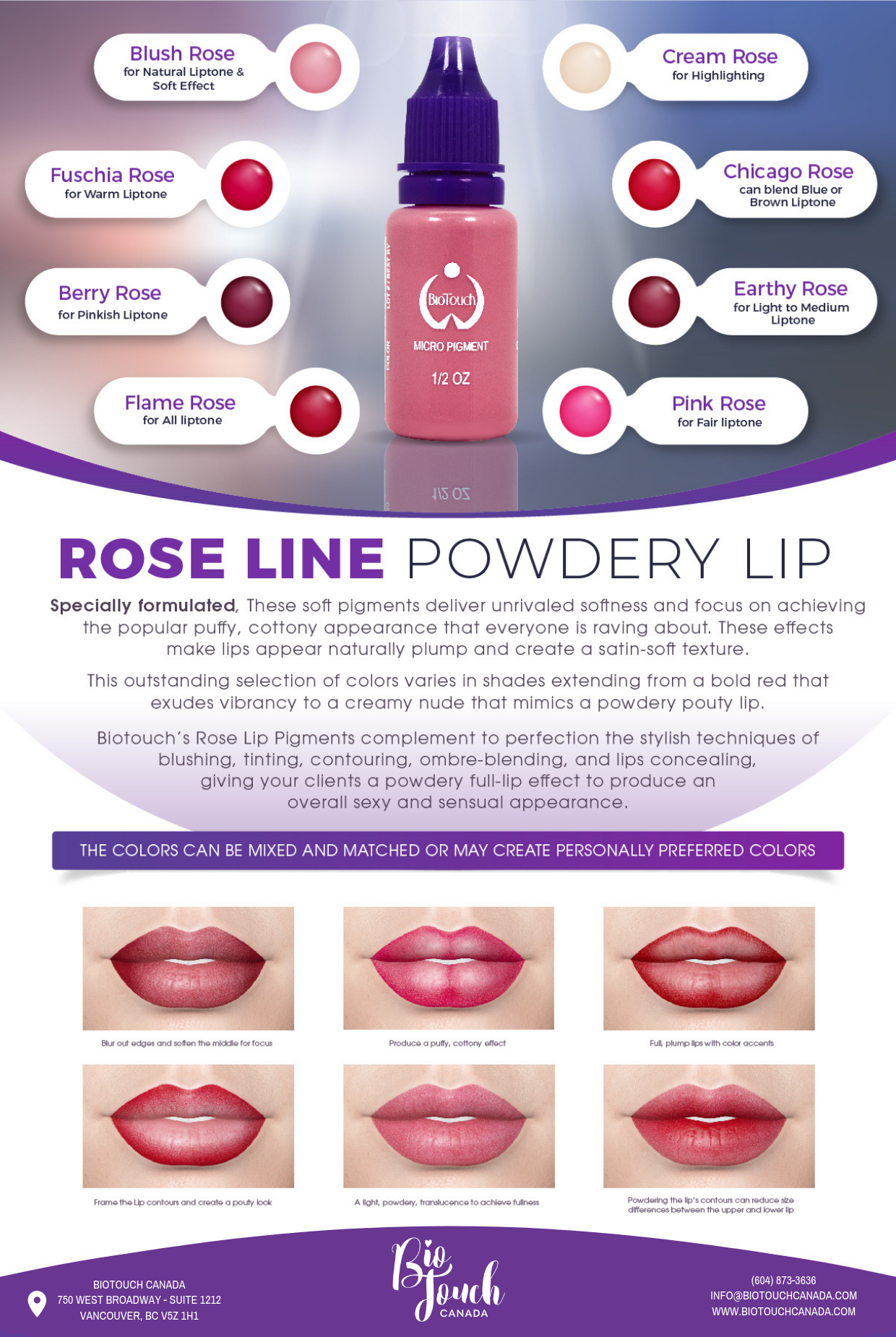 BioTouch Rose Lip Line How to line lips, Permanent