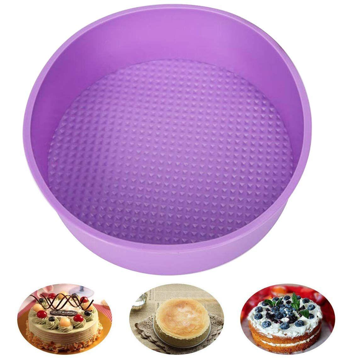 Baking silicone 10inch round cake pan baking mold bpa