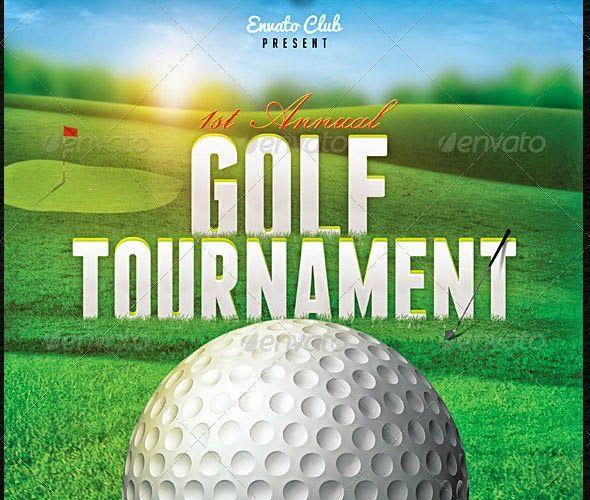 golf tournament brochure template