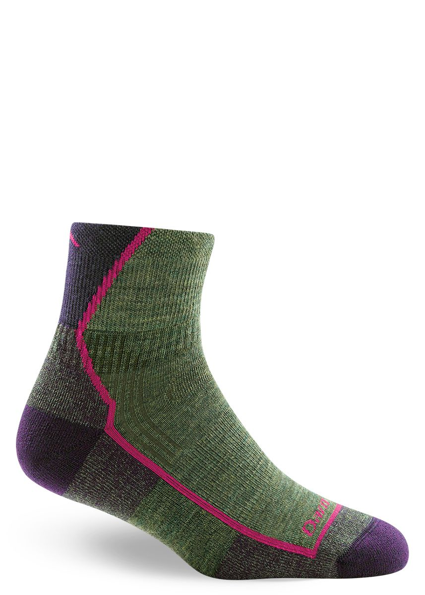 cbb203bb68 Keep your feet cozy in a pair of wool hiking socks for women by Darn Tough  featuring a cushioned foot and low rise. #woolsocks #darntough #hike