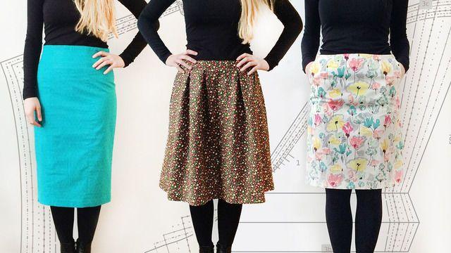 Schnittmuster für Röcke erstellen - Schnittkonstruktion lernen ...