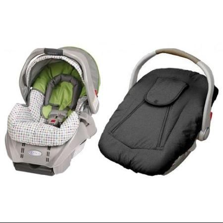Graco SnugRide Classic Connect Infant Car Seat With Deluxe Cover Pasadena