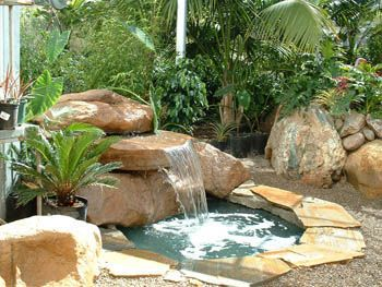 Backyard Water Feature Fountain | That The Outdoor Rock Fountains Add A  Beauty And Charm To