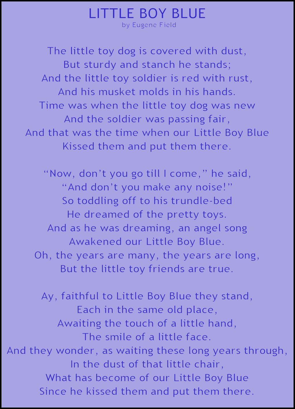 little boy blue eugene field