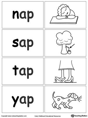 AP Word Family Workbook for Kindergarten | Word families, Thinking ...