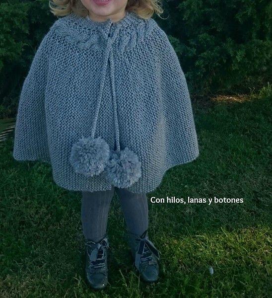 Con hilos, lanas y botones: DIY Capita de punto para niña con trenza ...