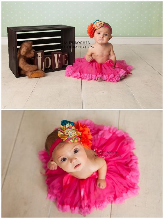 Baby Girl six month session,  Love sweet little tutus :)  Lisa Durocher Photography