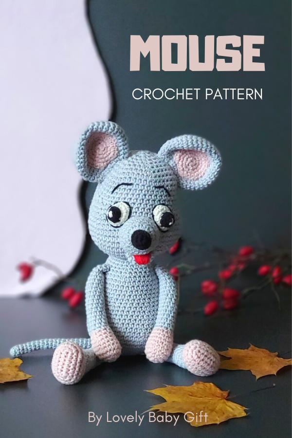 Amigurumi Mouse Toy Crochet Pattern - Easy to follow