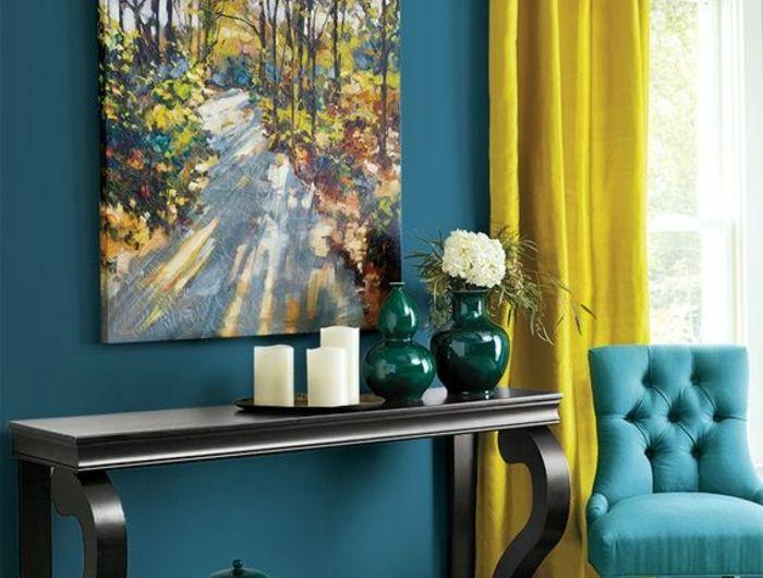 ▷ 1001 + idées créer une déco en bleu et jaune conviviale - peindre un mur en bois