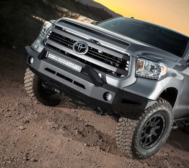 Ici fbm54tyn non winch front bumper toyota tundra 2014 2015 tundra magnum bumper for the 2014 toyota tundra pictured with rt series light bar aloadofball Image collections
