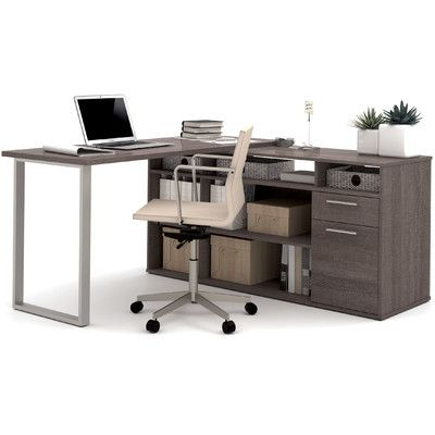 Mercury Row Alves Reversible L Shape Desk L Shaped Desk Desk