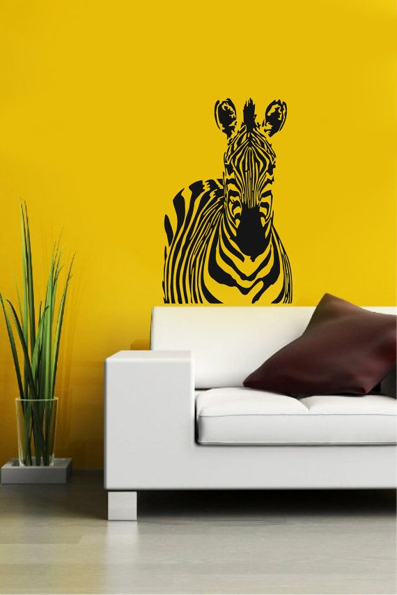 Zebra African Animal Housewares Wall Vinyl Decal Art ...