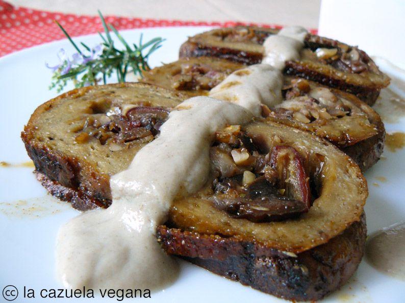 Como Cocinar El Seitan | Redondo De Seitan Relleno Al Horno Con Salsa De Setas La Cazuela