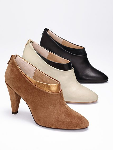two tone booties. i'll take a pair in each color, please!