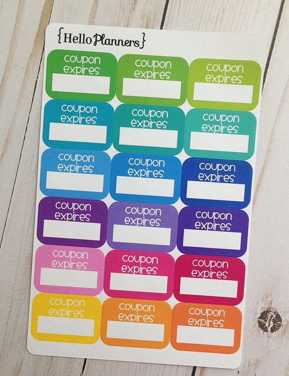 Planner Stickers Coupon Reminder Sticker Coupon Expires