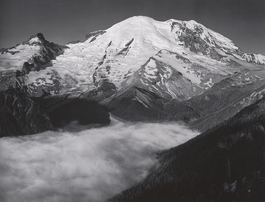 d7e201ed3dbc41 1948 Mount Rainier, Sunrise, from Yakima Park, Mount Rainier National Park,  Washington by Ansel Adams