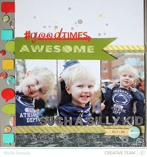layout by Nicole Samuels featuring our Snippets line