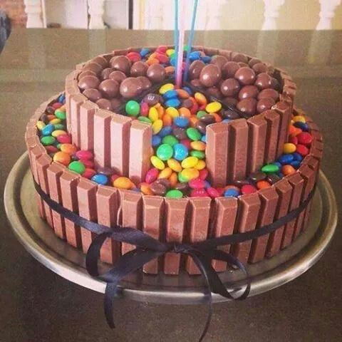 Kit Kat Smarties and Whispers 2 21st theme ideas Pinterest Cake