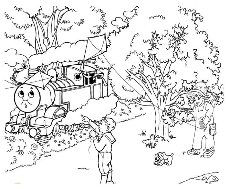 thomas coloring pages train engineer - photo#17