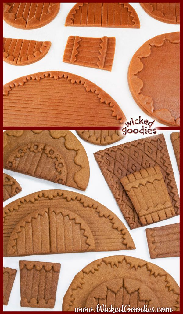 Gingerbread House Dough Recipe and Baking Instructions #gingerbreadhousetemplate
