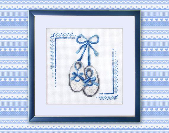 Little boy shoes Cross Stitch Pattern PDF First steps Baby ...