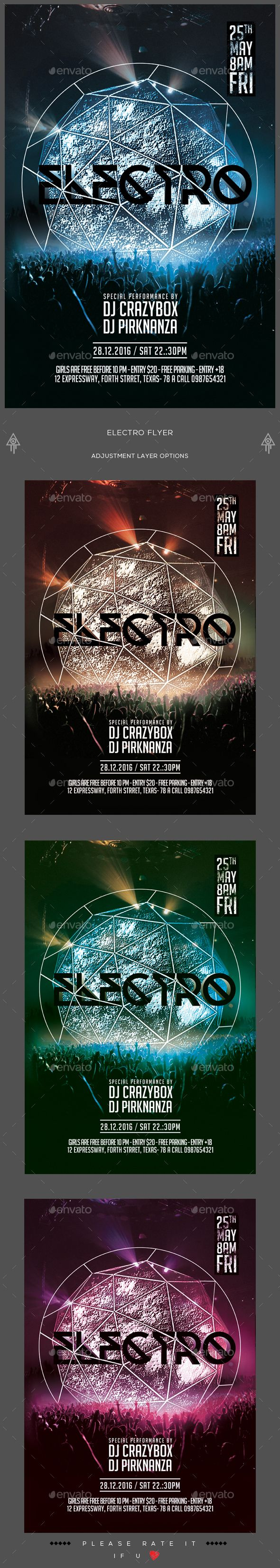 Electro Flyer  Electro Music Psd Templates And Graphic Design