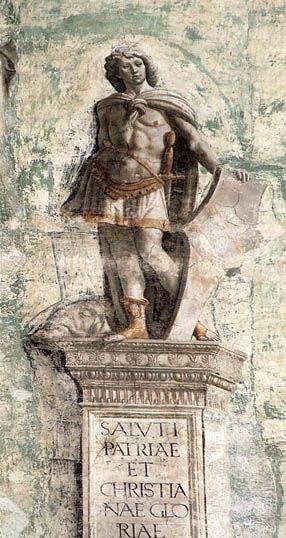 Domenico Ghirlandaio - David: ca 1485, Cappella Sassetti,  Basilica di Santa Trinita, Florence