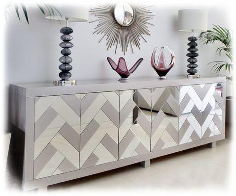 Niezwykla Duza Komoda Szklana Wzor Chevron Decor Home Decor Furniture