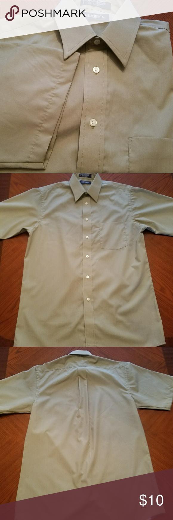 Mens Puritan Dress Shirt Short Sleeve Material 65 Polyester 35