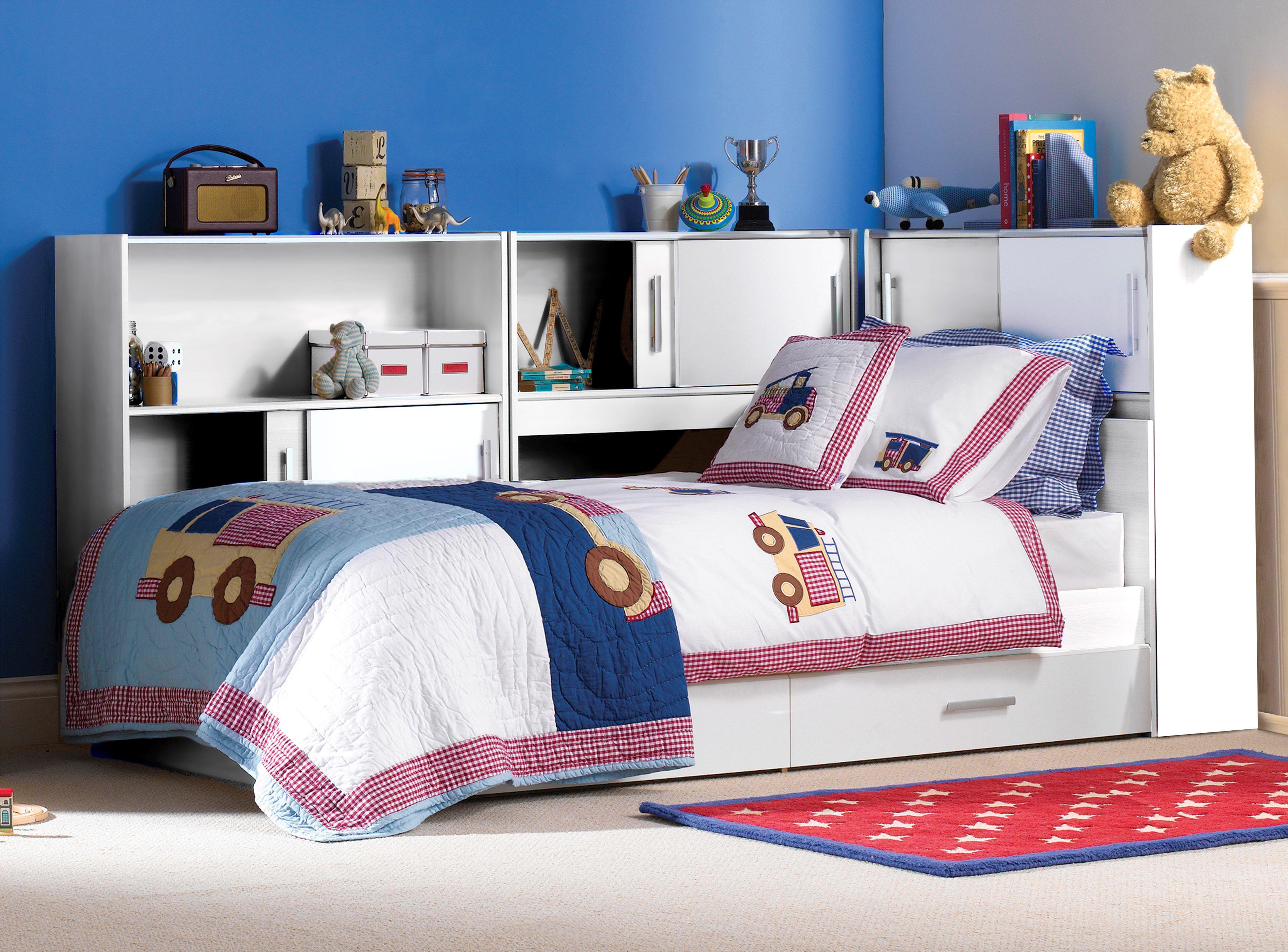 Lit blanc SNOOP 90X190 ou 90X200 cm | chambre d\'enfant | Lit ...