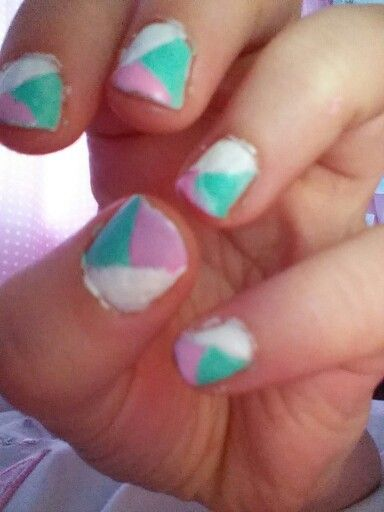 Cute nail designs with just nail polish and tape