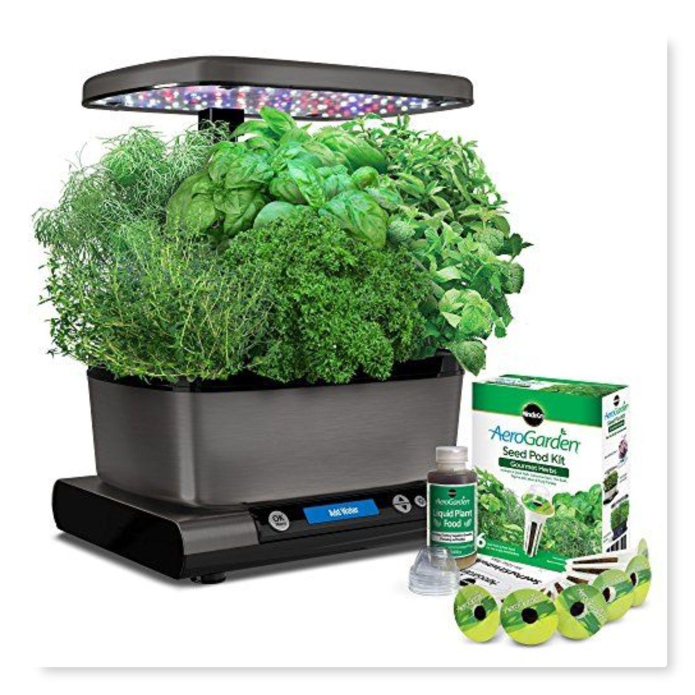 Aerogarden Harvest Elite With Gourmet Herb Seed Pod Kit 640 x 480