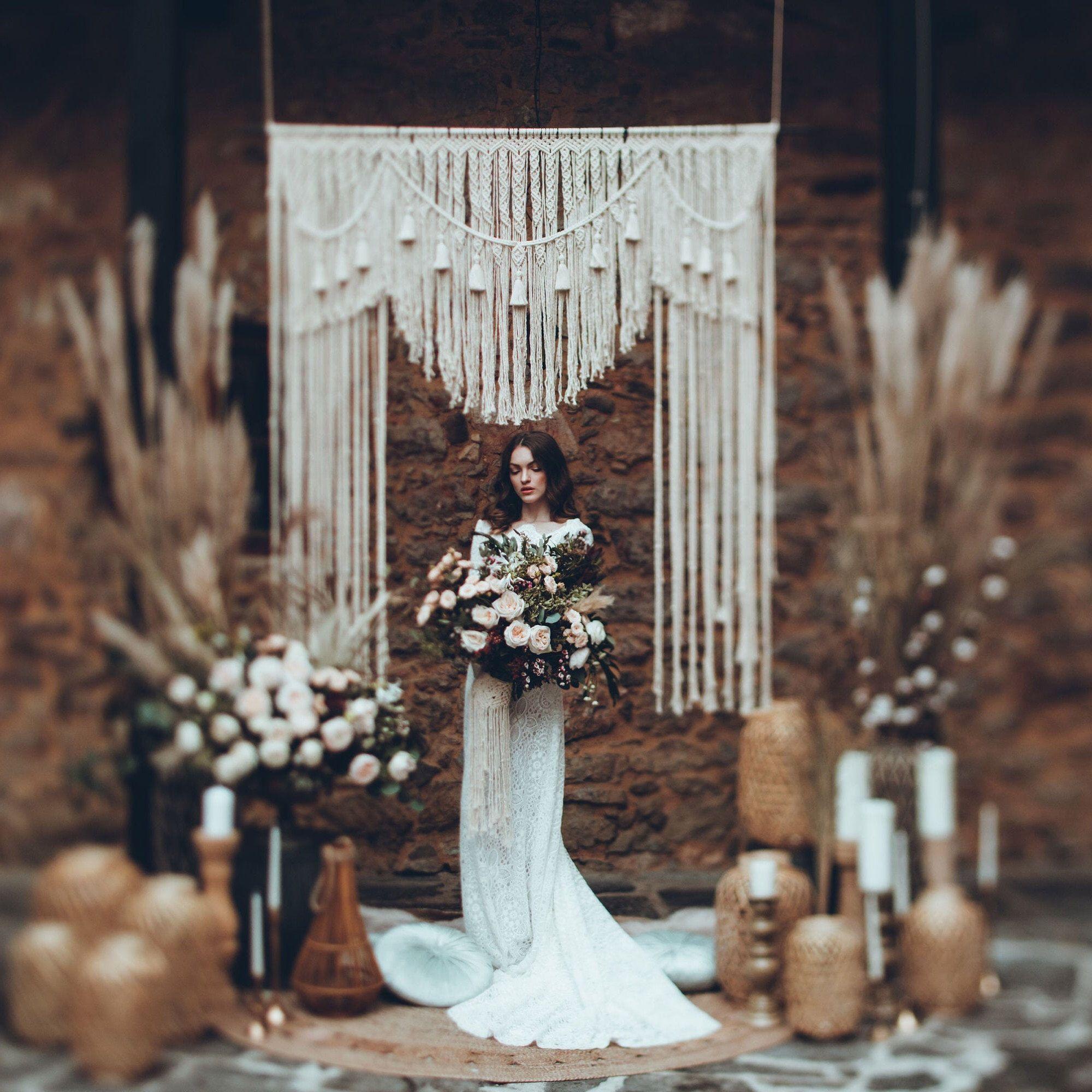 Macrame Wedding Backdrop Wedding Decor Boho Wedding Etsy Hochzeitskulisse Hochzeitsdekoration Boho Hochzeit