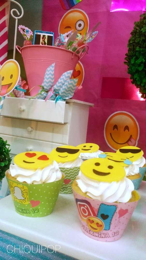 insta face emoji birthday party ideas una fiesta divertida para los aos