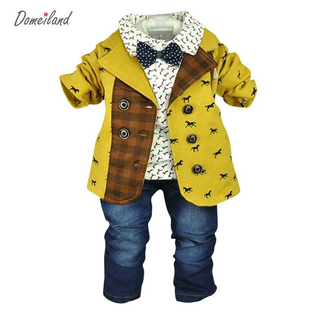 a08ef1386 spring baby boy clothing for 3 pcs jackets clothes suits with polo ...