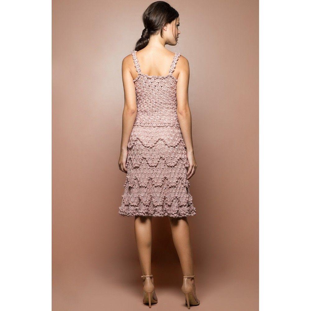 US$ 2,990.00 - Pearl Bellini Crochet Dress - Vanessa Montoro USA - vanessamontorolojausa