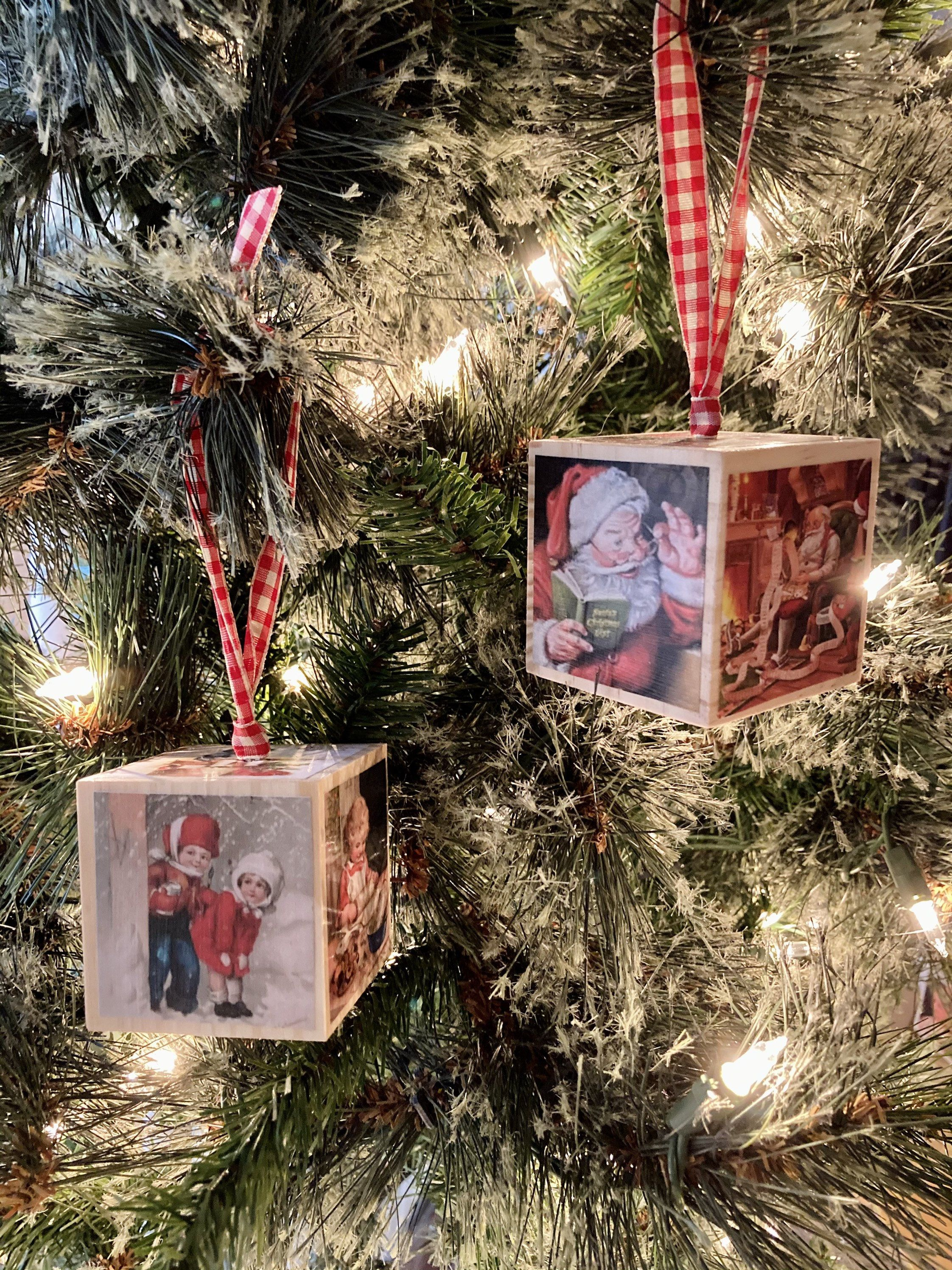 Pin By Taryn Paquet On Gifts Photo Blocks Ornament Wooden Christmas Ornaments Blocks Ornaments