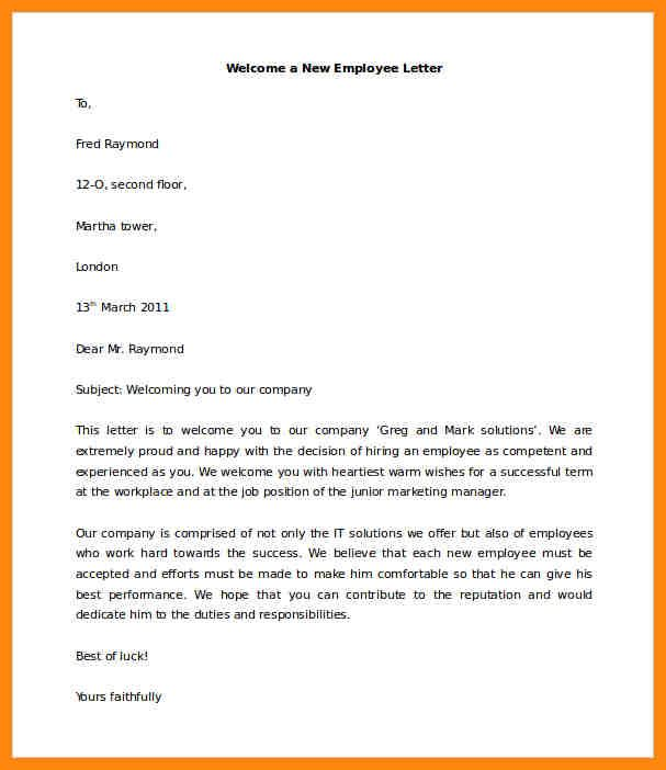 New Employee Welcome Email New Employee Employee Email Template Business