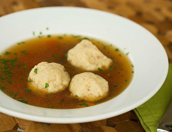 Matzo Ball Soup Recipe by @browneyedbaker :: www.browneyedbaker.com
