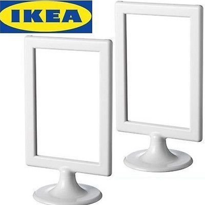 Details About Lots Of 2 Ikea Standing Picture Frames White 4 X6 Frome Ca White Picture Frames Picture Frames Ikea White Frames