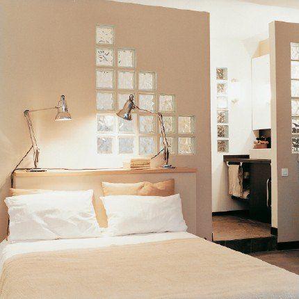 Des cloisons en briques de verre Bedrooms, Sous sol and Decoration - Pose Brique De Verre Salle De Bain