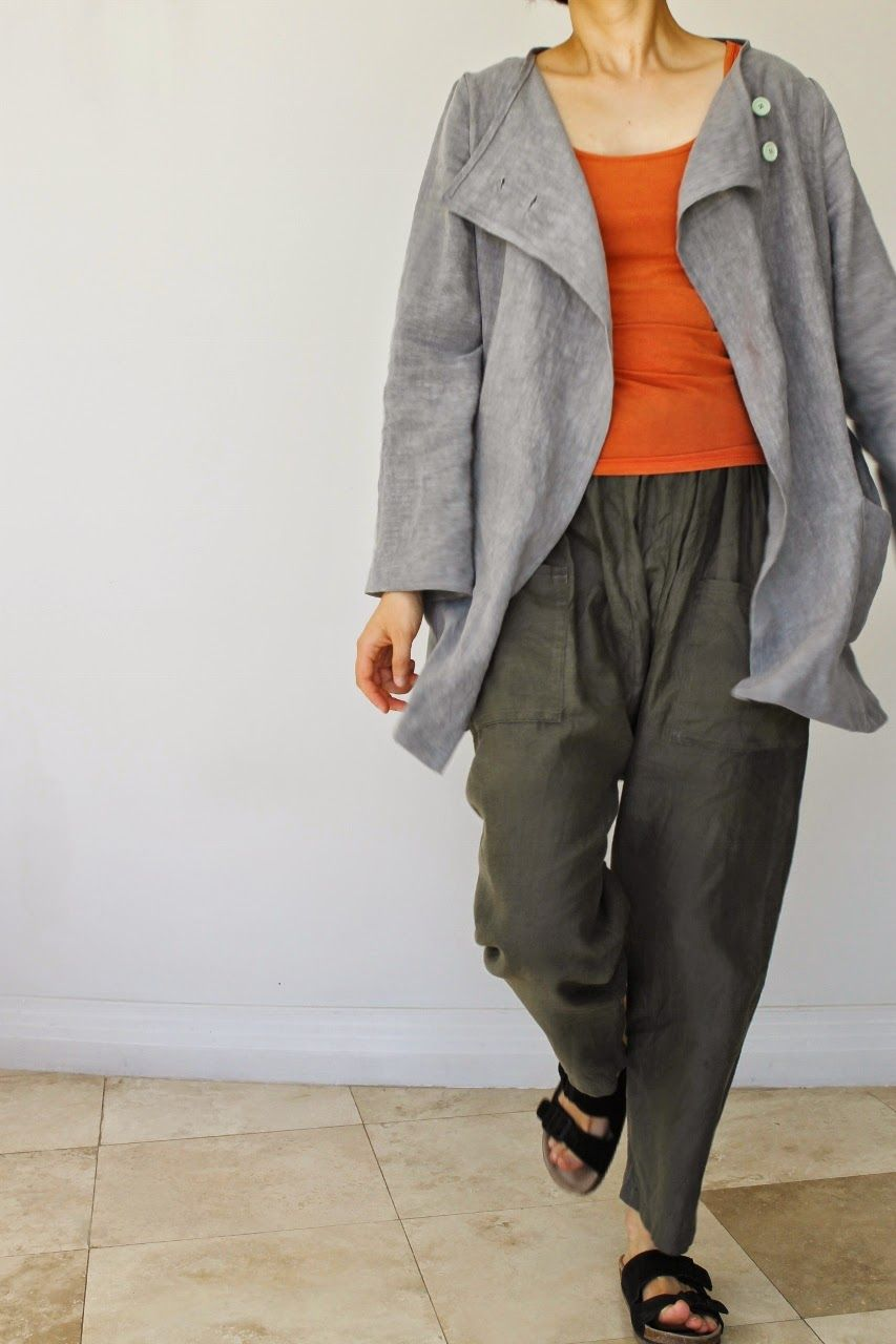 Jing and Tonic: jacket J from Happy Homemade Sew Chic modified with ...