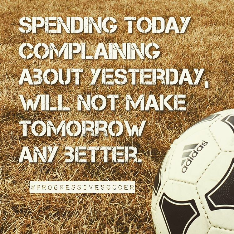 If you're not happy with your situation (ex. playing time performances lack of respect from teammates/coaches current skills or fitness etc) don't spend a second complaining about your problems. Instead invest that time in finding solutions and changing your situation. The power for change is in you and it's your responsibility. If you aren't happy with a certain area of your life or your game do something about it. End rant!