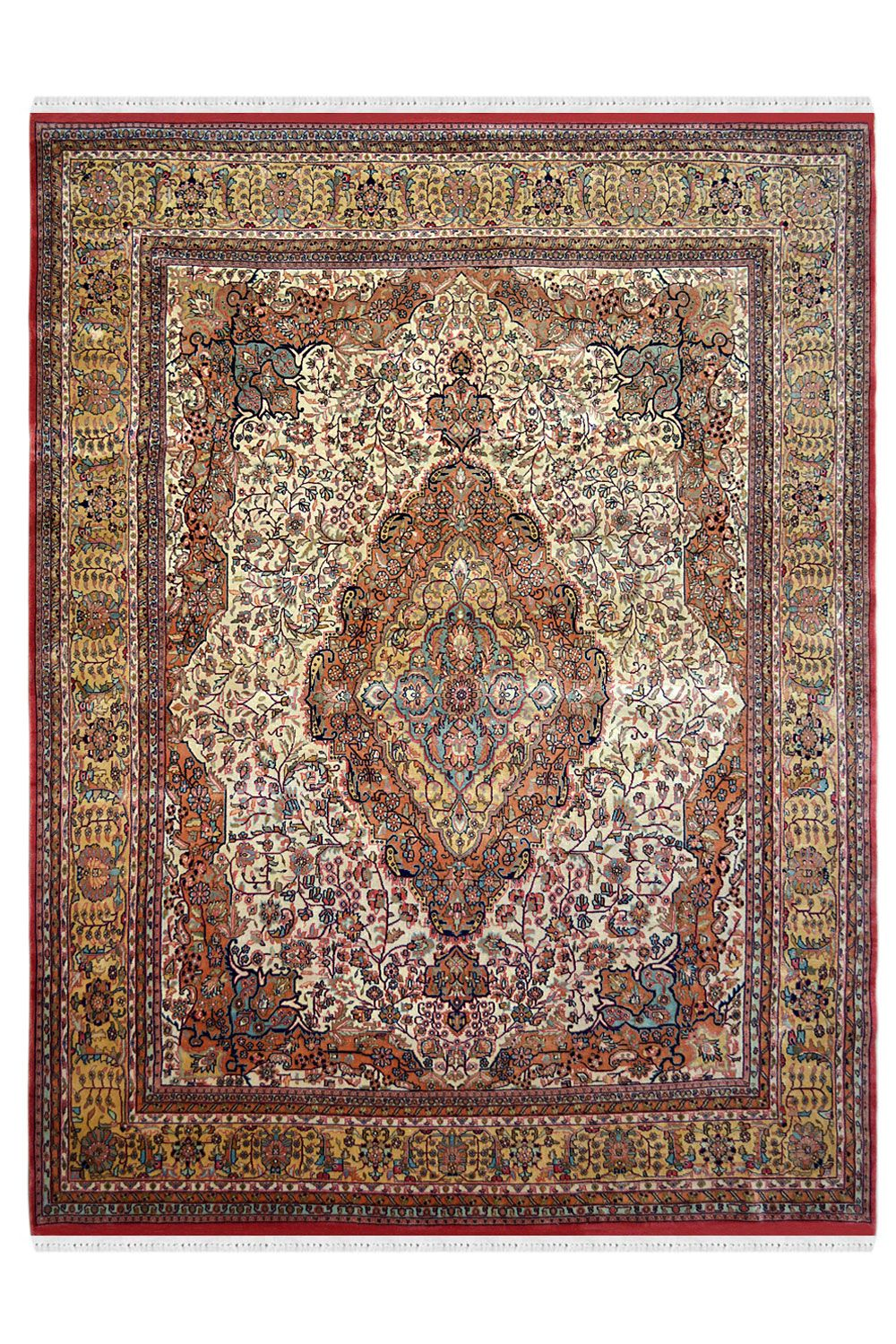 Buy One Of A Kind Central Medallion Handknotted Wool Area Rug Wool Area Rugs Area Rugs Rugs