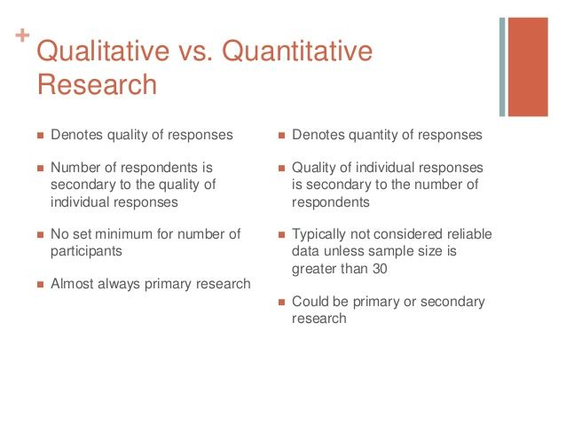 +  Qualitative vs. Quantitative Research   Denotes quality of…